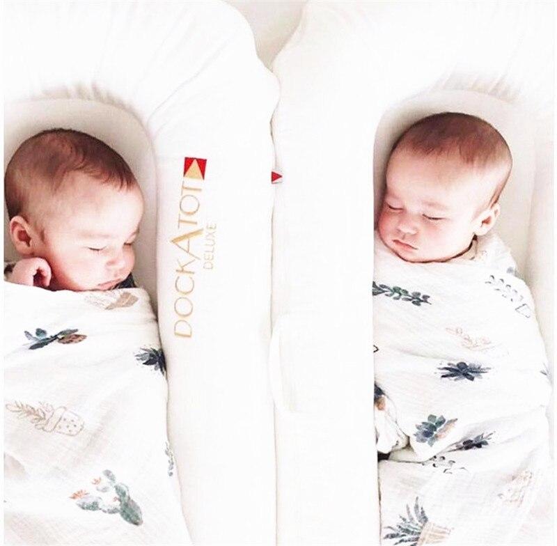 2 pcs par cobertor do bebê algodão