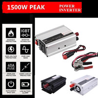 Vehemo 1500W Car Solar Power Inverter Converter Transformer DC 12V To AC 220V W Adapter Portable