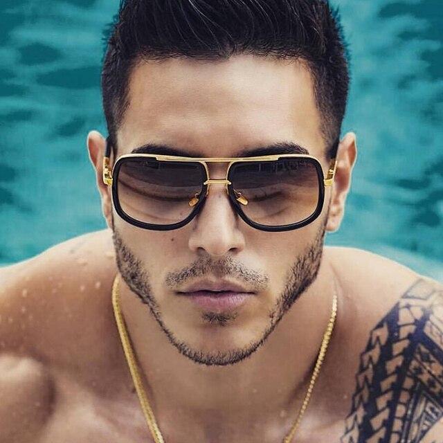 e31c3ce57a77f 2019 Nova Moda Grande Quadro Óculos De Sol Dos Homens Quadrados Óculos Da  Moda para As