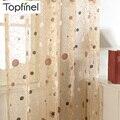 2015 Nuevo nido de pájaro moderno cortina de ventana escarpada para cocina sala de estar del dormitorio persianas terminados tela de tul para las ventanas
