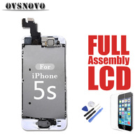 For IPhone 5s Full Assembly LCD Display Replacement Touch Screen Digitizer Complete Set Parts Panel Front