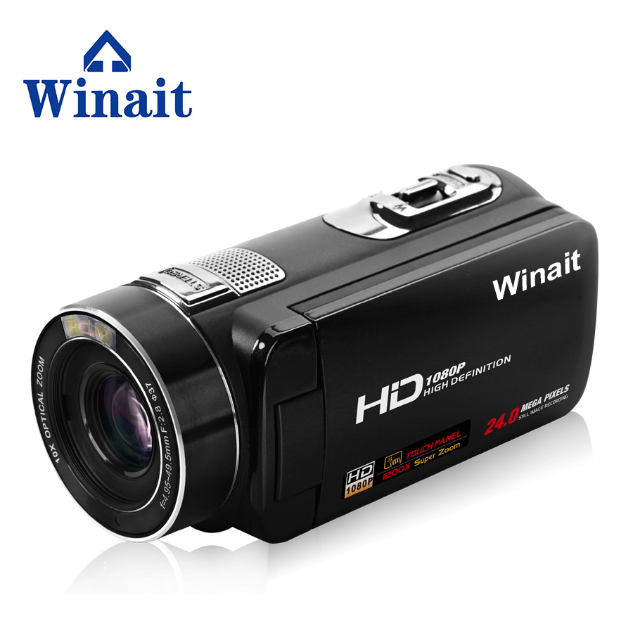 Winait 2017 cheap HDV-Z80 digital video camera with extra macro lens remoter control Smile Capture touch screen
