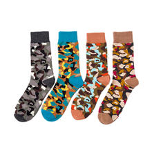 SANZETTI 12 Pairs/lot Colorful Men's Combed Cotton Classic Dress Skateboard Sock