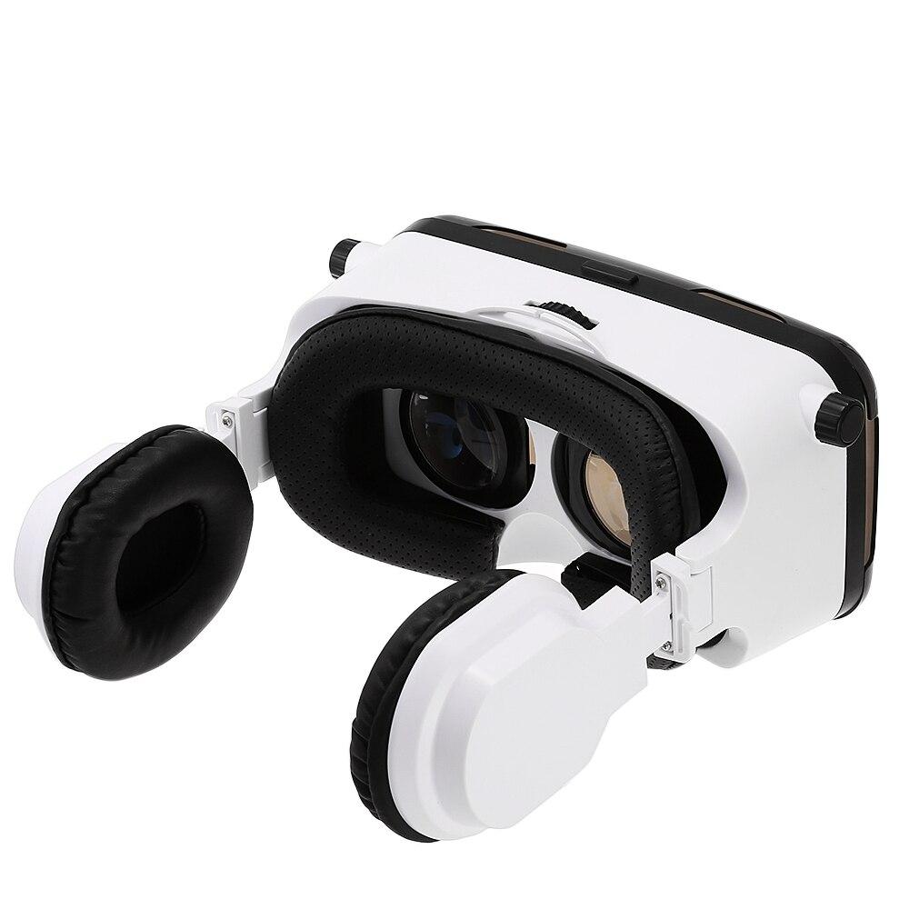 <font><b>GEPRO</b></font> <font><b>VR</b></font> <font><b>Virtual</b></font> <font><b>Reality</b></font> 3D <font><b>Glasses</b></font> <font><b>with</b></font> <font><b>Foldable</b></font> Earphones for 4 - 6 inch Smartphone IPD Focal Length Ad......