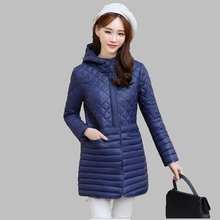 2016 Зима Новый Корейский Большой ярдов Хлопка пальто Женщин Средней Длины пуховик с капюшоном Тонкий Толстый Теплый Хлопок куртки пальто M-XXXL AB73