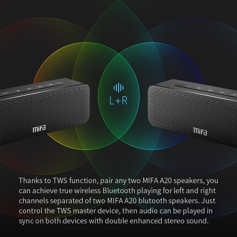 MIFA A20 Bluetooth სპიკერი ლითონის - პორტატული აუდიო და ვიდეო - ფოტო 5