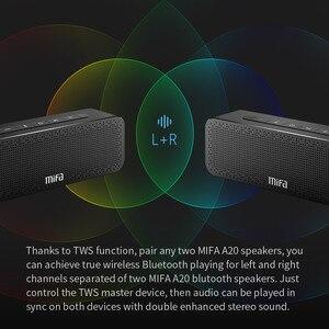 Image 3 - Mifa A20 Bluetooth Speaker Metal Draagbare Super Bass Wireless Speaker Bluetooth4.2 3D Digitale Sound Luidspreker Handenvrij Mic Tws