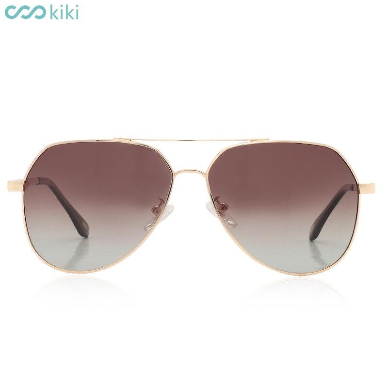 5303a16887 KIKI Men Women Polarized Sunglasses Brand Design Pilot Metal Glasses Pilot  UV400 Driving Gafas De Sol Masculino With Box -in Sunglasses from Apparel  ...