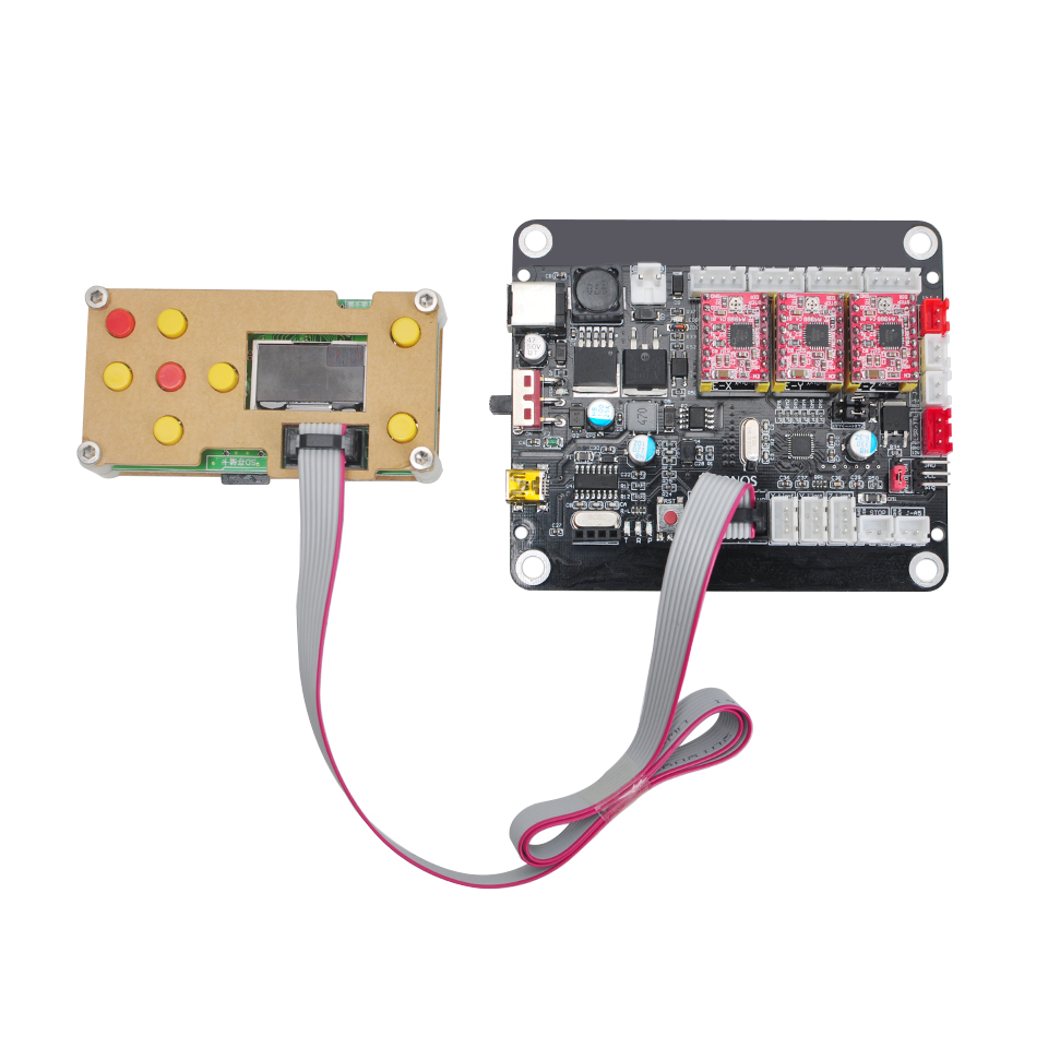 CNC Controller Board 3 Axis Double Y Axis Driver Board Offline GRBL Controller USB Laser Board