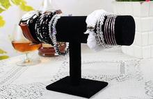 Black Rose Red 3Colors  Bracelet Chain Watch T-Bar Rack Jewelry Hard Display Stand Holder Jewelry Organizer Hard Display 0433