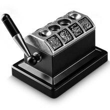 Cigar Cutter Bronze Bitch 4 Hole V-Cigar Stainless Steel desktop Scissors CC-134
