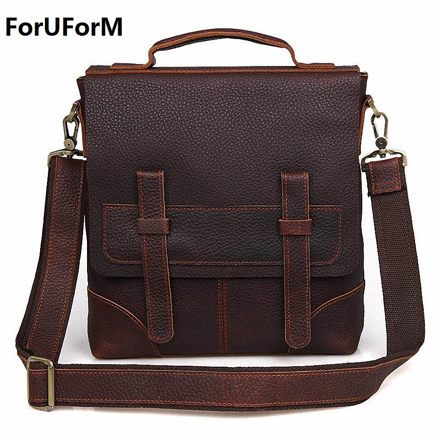 Genuine Leather bag Men Messenger Bags Casual Multifunction shoulder Crossbody Bags Handbags iPad Holder men leather bag LI-1855 цены онлайн