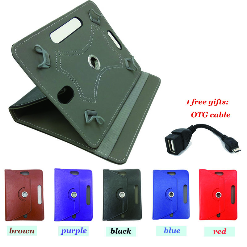 For Prestigio MultiPad Wize 3508  8inch 360 degree rotation  universal Smart leather Cover case and free gift OTG