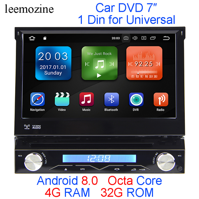 US $446 16 |Android 8 0 Octa Core 4G RAM 32G ROM 1 Din GPS Navi Stereo 7