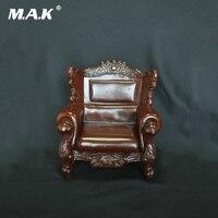 1:6 Escala AC-5 Mobiliário Retro PVC Único Sling Cadeira Sofá Poltrona de Couro Do Sofá Modelo para Coleção
