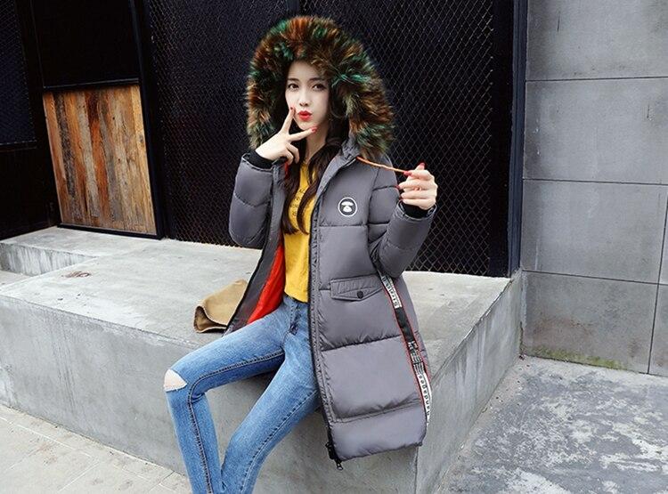 新冬ジャケット女性コート暖かいスリム太いロングパーカー良質カラーの毛皮の襟フード女性コート女性ジャケット SZMXSS 2017 United 17