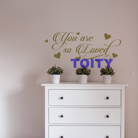 You Are So Loved Characters Vinyl Hearts Lettering Nursery Quotes Girls Room Decor Wall Decal Sticker