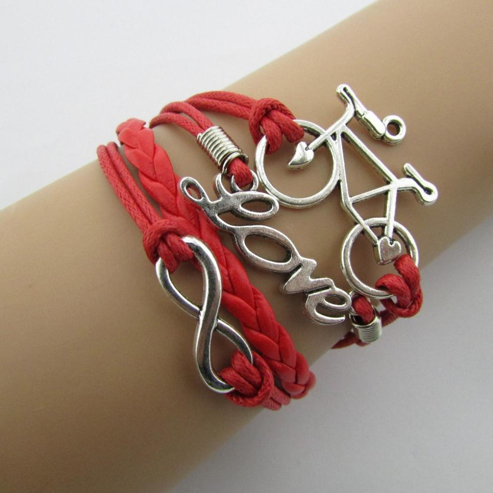 Kiran Name Bands: №Fashion Charm Vintage LOVE Of Eight Multilayer 【 Braided