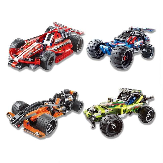 Decool Compatible Legoed Technic Trucks Pull Back Function Racer Car Sets Kit Building Blocks DIY Moc Bricks Children Toys Gifts