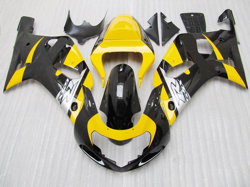 Обтекатель для SUZUKI 2001 2003 GSXR600 750 01 02 03 GSXR600 GSXR750 K1 01 02 03 GSXR 600 750 желтый/черный Обтекатели kit7 подарки