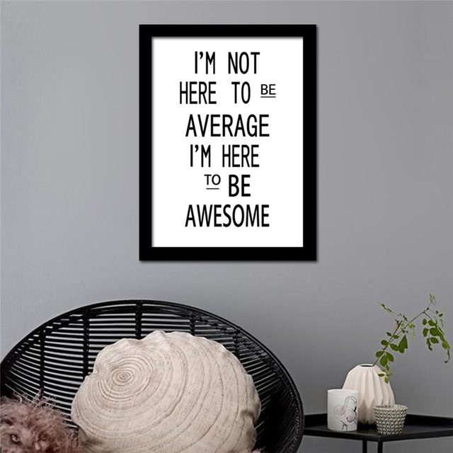 No Frame Nordic Inspiring Quote Minimalism Canvas Mural Painting Creative Wall Art Drawing Pretty Living Room