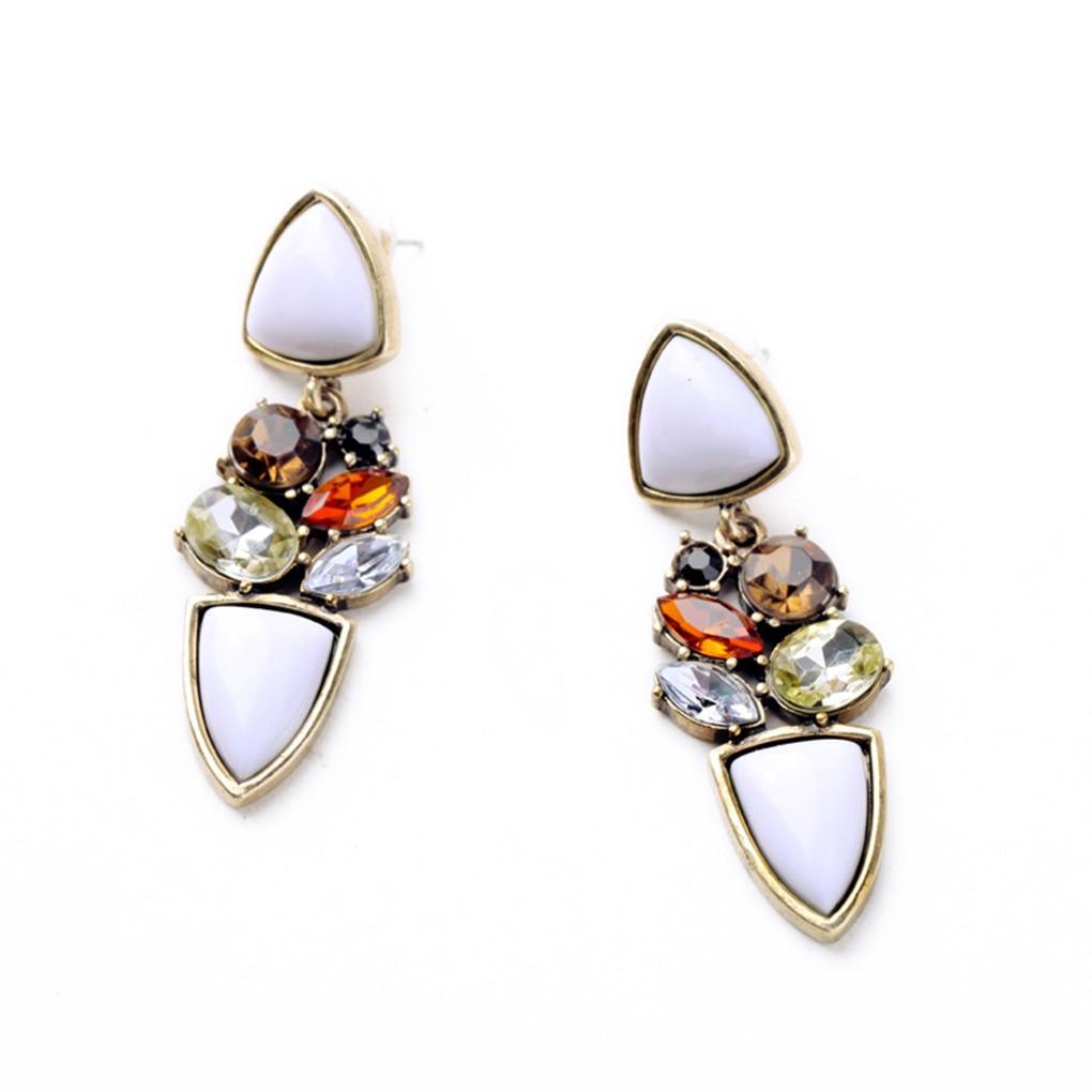 1 Pair Fashion Crystal Women Earings Charming Girl Shining Night Club Drop Ear Rings Elegant Lady Jewelry