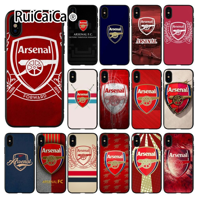 b0f86879d02 Ruicaica Arsenal FC Soft Silicone TPU Phone Cover for iPhone 8 7 6 6S Plus 5  5S SE XR X XS MAX Coque Shell-in Half-wrapped Cases from Cellphones ...