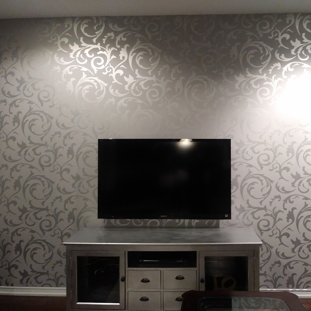Grey Classic Luxury 3D Floral Embossed Textured Wall Paper ...