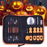 Carving Tools Kit Children Halloween Pumpkin Cutting Supplies Tools Kit Pumpkin Light Decoration Props Modeling Carved Tool