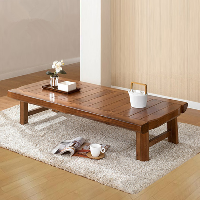 Asiático Mobiliário Antigo Mesa de Madeira Dobrável 150*60 cm Sala de estar Mesa de Café Japonês Dobrável Mesa de Centro De Madeira de Baixa dobrável