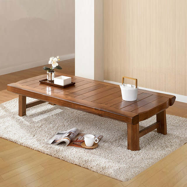 Placeholder Asian Furniture Antique Wood Folding Table 150 60cm Living Room Anese Foldable Coffee Wooden