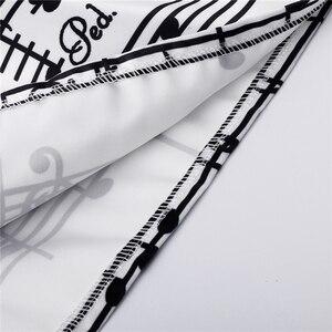 Image 4 - Neophil 2020冬のピアノ音楽注メロディプリントハイウエストプリーツスカート夜会服サテンフレア女性スカートチュチュサイs08024