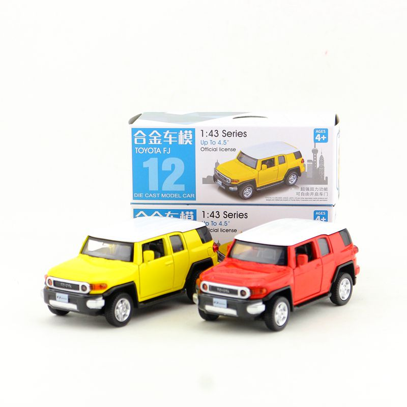 Box Gift Model,High Simulation 1:43 Alloy Pull Back Toyota FJ CRUISER Model Cars,Original Packaging,selling Toys,free Shipping