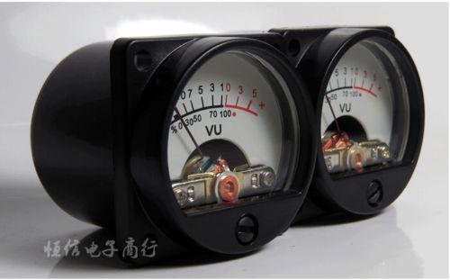 2x Панель VU Meter теплый Back Light Запись уровня звука для Усилители домашние Колонки