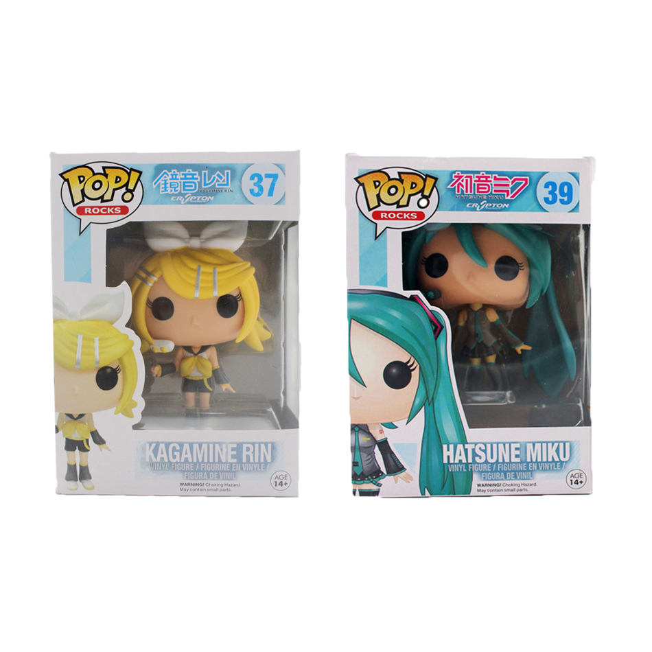 Funko <font><b>Pop</b></font> Hatsune Miku <font><b>Kagamine</b></font> <font><b>Rin</b></font>/Len <font><b>VOCALOID</b></font> Cosplay PVC Anime TV Hot <font><b>Vinyl</b></font> Cute Action <font><b>Figure</b></font> Collection Kid's Gifts Toys