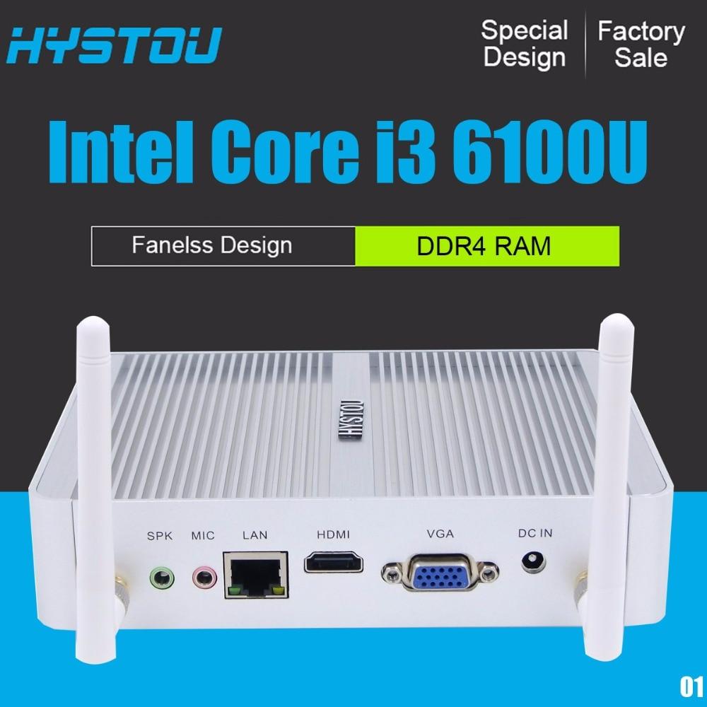 HYSTOU FMP06 mini-pc windows  10 intel Core i3 6100U DDR4 RAM 16GB mini-PC i3 5005U intel HD Graphics 520 4K TV BOX i3 mini pc 15 6 fhd display laptop pc windows 10 i7 6500u aluminum shell intel hd graphics 520 up to 3 1ghz ultrabook dedicated graphics
