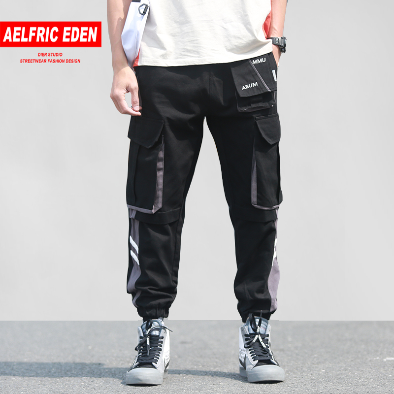 Men women Joggers Ribbons Letter Embroidery Casual Trousers Popular  Cargo Pants