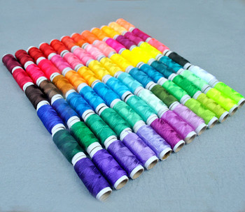 72PCS/lot 8g/pcs Multicolor Ice Silk Embroidery Thread Sewing Embroidery Cross Stitch Silk Threads Embroidery Line For Handmade embroidery