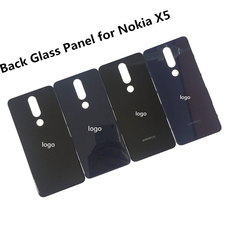 Original New Back Cover For Nokia X5 Battery Cover Housing Glass Panel For Nokia X6 Androidone Phone Accessories With Sticker