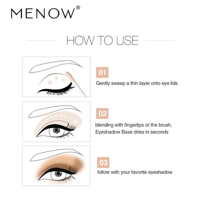 MENOW 1Pc Eyeshadow Primer Eyes Make up Base Waterproof Eye shadow Base Cream Cosmetics Primer maquiagem 2018 New Makeup Primer 3