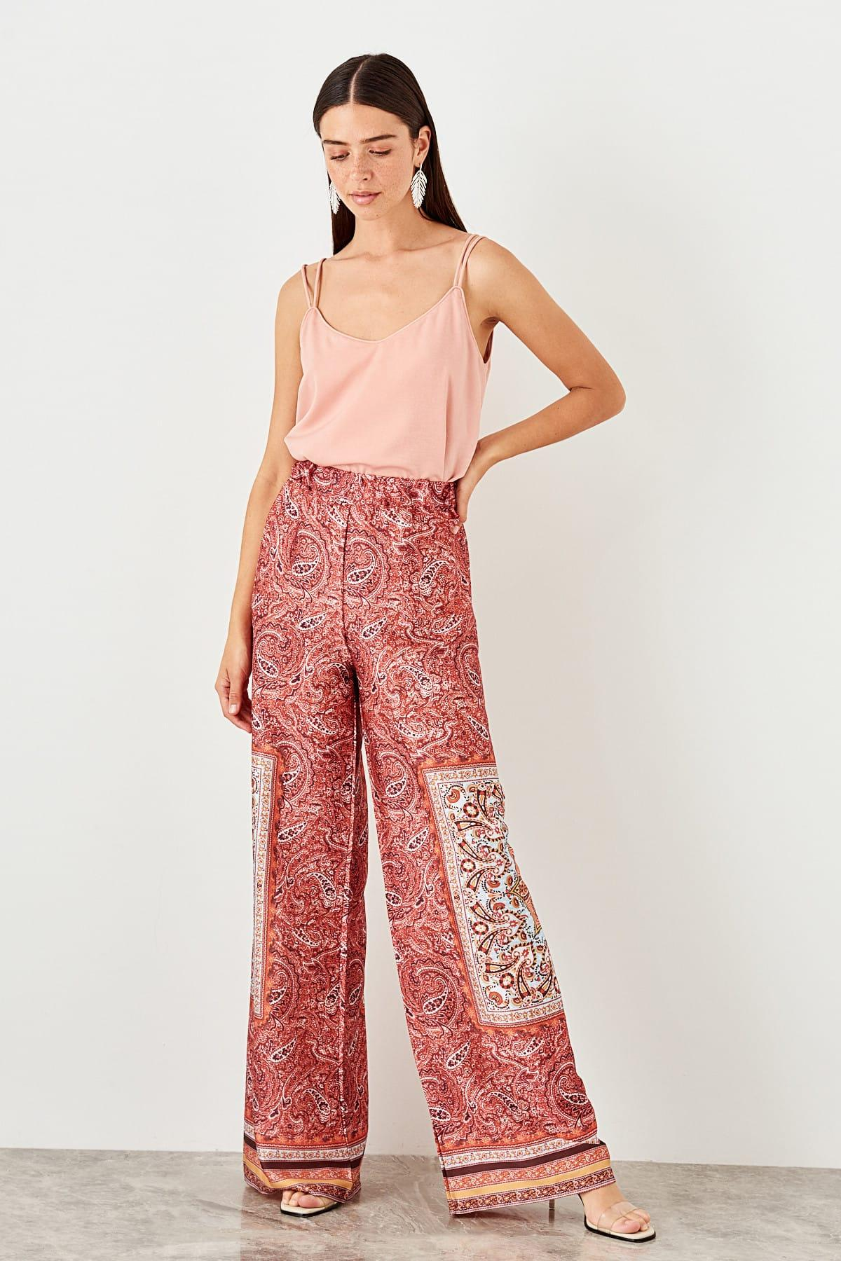 Trendyol Multicolour Pattern Pants TWOSS19PL0095