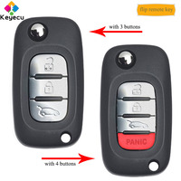 KEYECU OEM Flip Remote Car Key With 3/ 3+1/ 4 Buttons & 433MHz & 4A Chip Fob for Benz Smart Fortwo 453 Forfour 2015 2016 2017