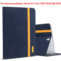 Silicon Cloth PU Leather Smart Tablet Case For Samsung Galaxy Tab S3 9 7 Inch T820