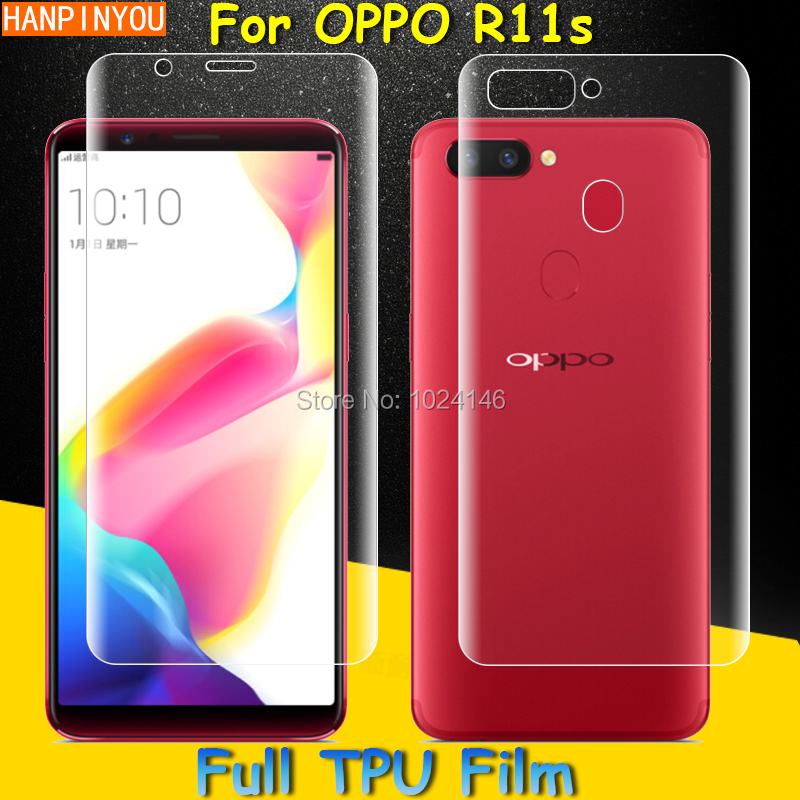 Front / Back Full Coverage Clear Soft TPU Film Screen Protector For OPPO R11s 6.01 , Cover Curved Parts (Not Tempered Glass)