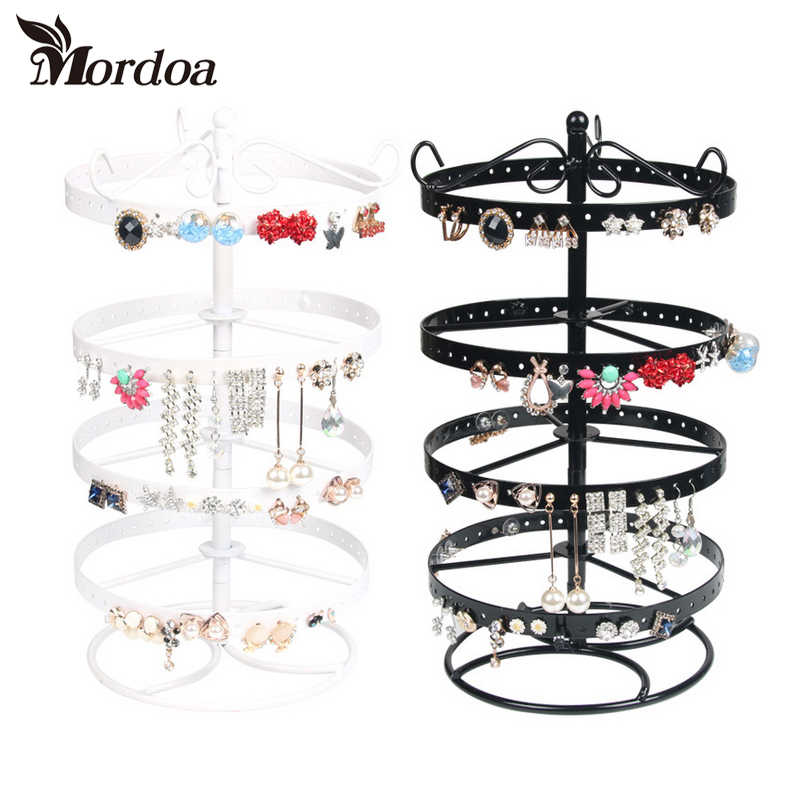 188 Hole Round Earrings Ear Studs Jewelry Display Rack White Metal Stand Organizer Holder Display Showcase Shelf Hot Selling