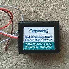 Emulador novo sensor de profissão de assento, para mercedes benz w220 w163 w210 w203 w168 frete grátis, instalação simples para tipo mb 6