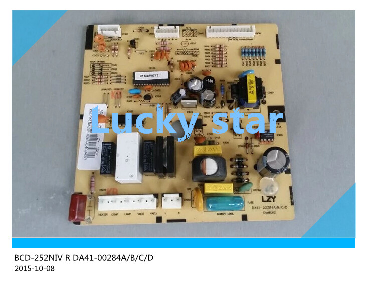 95% new for Samsung refrigerator pc board Computer board BCD-252NIV R DA41-00284A/B/C/D board good working makita d 00284