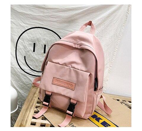 HTB14a1UXuH2gK0jSZFEq6AqMpXa5 2019 Backpack Women Backpack Fashion Women Shoulder Bag solid color School Bag For Teenage Girl Children Backpacks Travel Bag