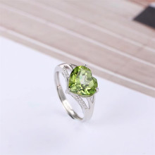 gemstone fine jewelry factory wholesale 925 sterling silver natural 11x11mm oval shape natural peridot ring for women kjjeaxcmy fine jewelry 925 pure silver natural green jade medulla ring inlay decoration wildflowers simple oval shape