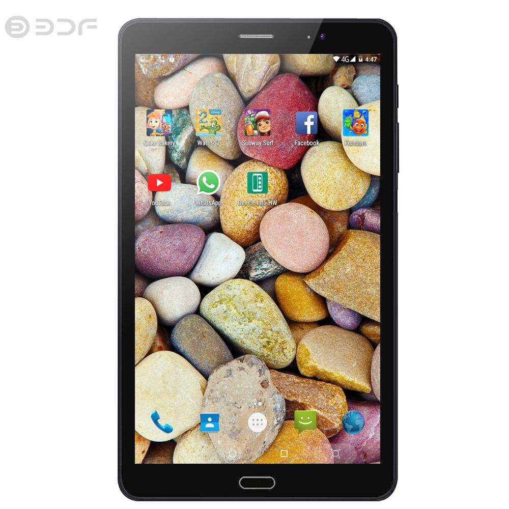 BDF 8 pouces tablette Pc Original 4G appel téléphonique 4G + 32G Android 6.0 Quad Core 3G 4G LTE tablettes mobiles double SIM WiFi 1920*1200 écran